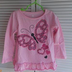 Girl's Pretty Butterfly Top